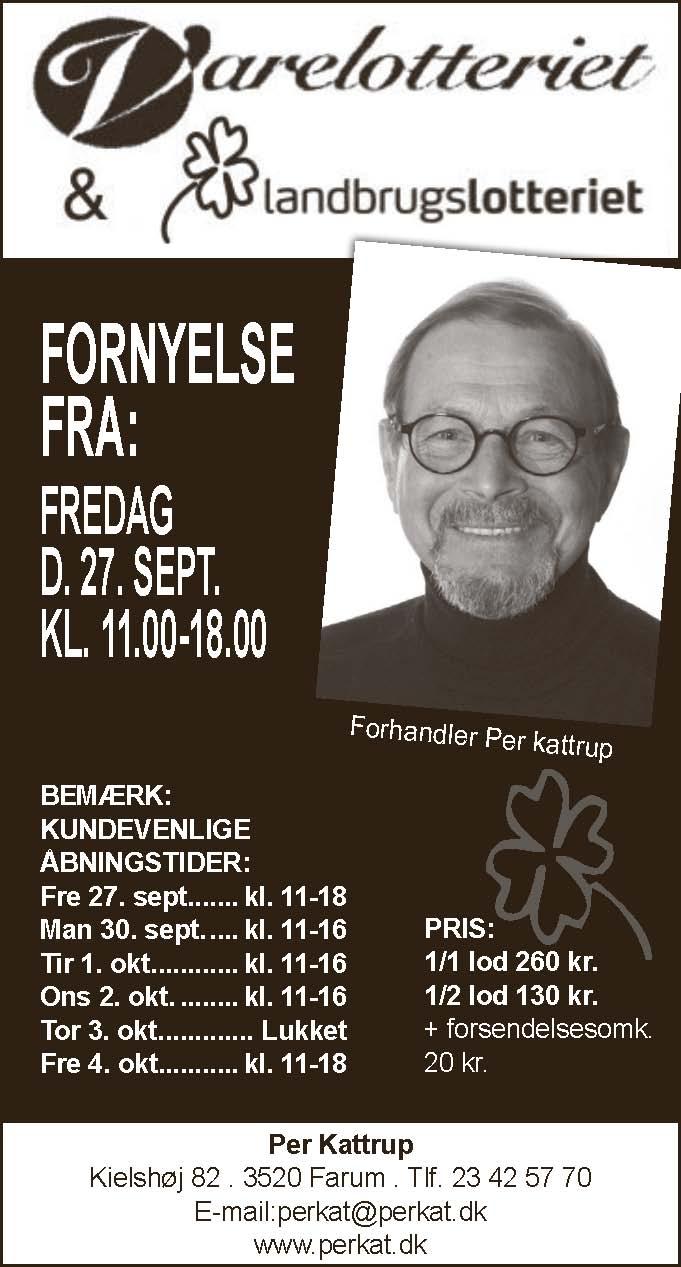 Per Kattrup - Vare- og Landbrugslotteri - Furesø og Lynge